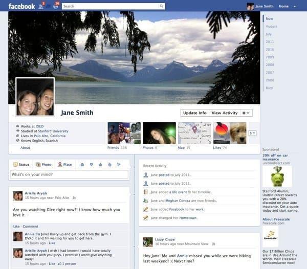 Nuova Timeline di Facebook
