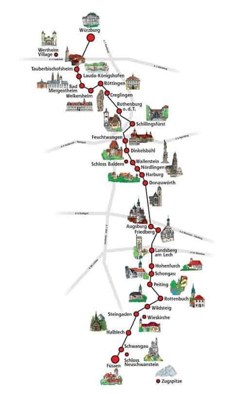 Cartina Baviera