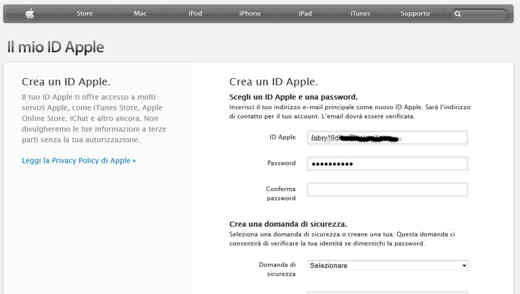 Crea un ID Apple