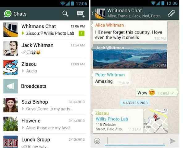 La nuova versione di WhatsApp
