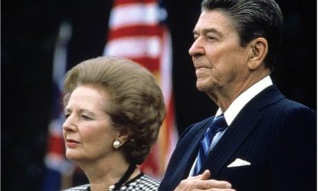Ronald Reagan e Margaret Thatcher