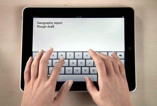 Scrivere su un iPad