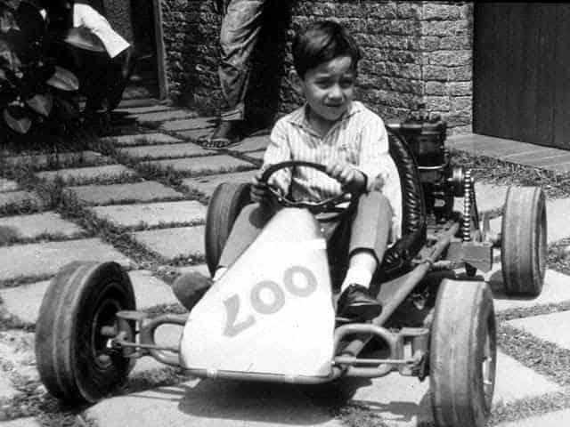 Senna da bambino su un Kart