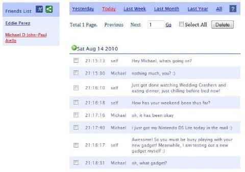 Facebook Chat History Manager
