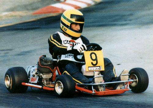 Senna sul goKart