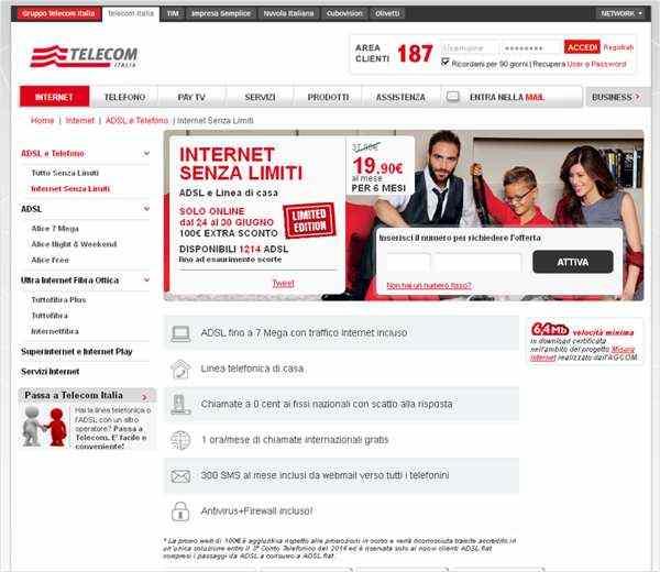 Telecom IDSL - Offerta senza limiti