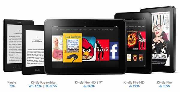 La famiglia dei Kindle Amazon