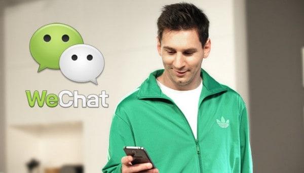 Messi e WeChat