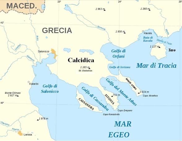 Grecia: dove è la Calcidica