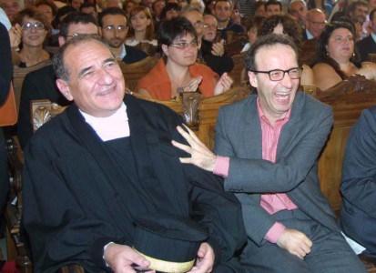 Vincenzo Cerami e Roberto Benigni