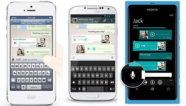WhatsApp e i messaggi vocali