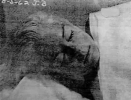 Il volto di Marilyn Monroe morta