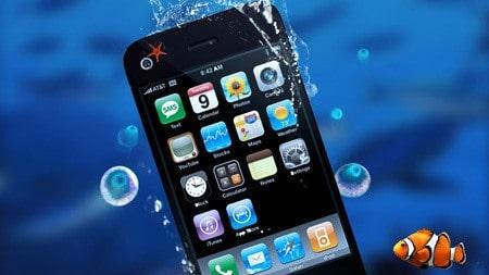 Iphone in acqua