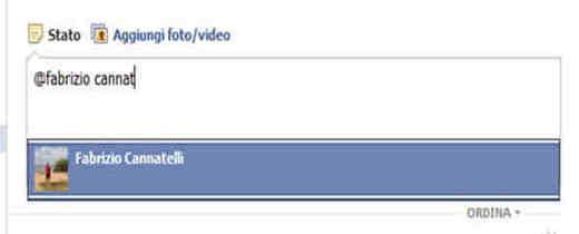 Taggare amici su Fb