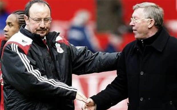 Rafa Benitez e Alex Ferguson