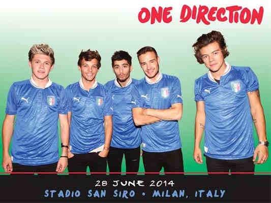I concerti 2014 in Italia degli One Direction