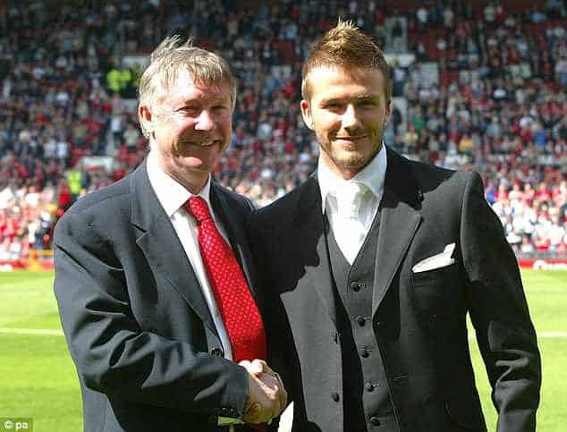 Alex Ferguson e David Beckam
