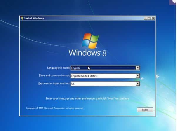 Installazione di Windows 8
