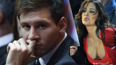 Larissa Riquelme e Lionel Messi