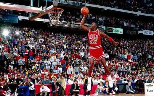 Michael Jordan nel suo gioco aereo