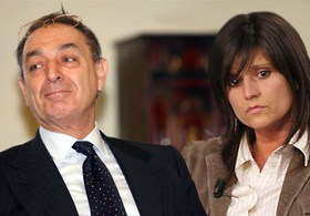 l'Avvocato Carlo Taormina e Annamaria Franzoni