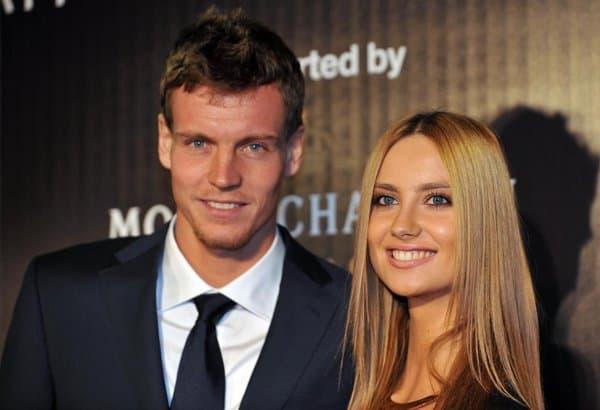 Tomas Berdych e Ester Satarova