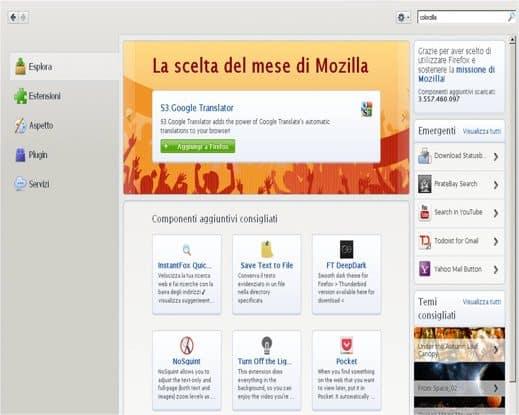 I Componenti Aggiuntivi di Firefox
