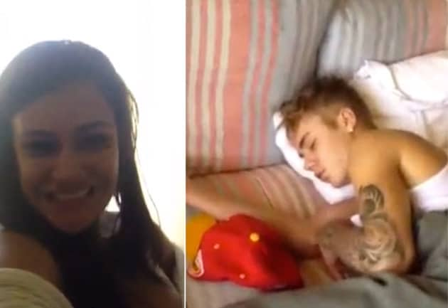 Tatiana Neves e Justin Bieber