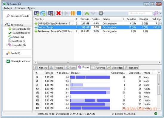 Console di BitTorrent