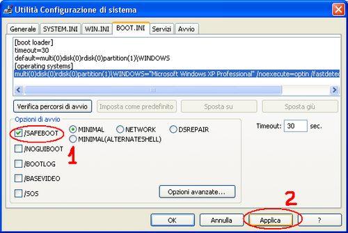 utilita configurazione sistema - Come avviare Windows in modalità provvisoria e rimuovere i Virus
