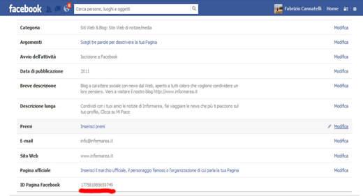 ID Facebook - Dove trovare l'ID della pagina Fan di Facebook