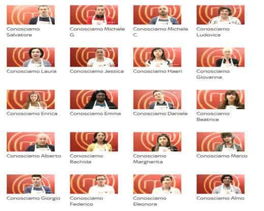 I 20 concorrenti di MasterChef Italia 3