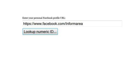 lookupID - Come trovare ID della pagina Facebook