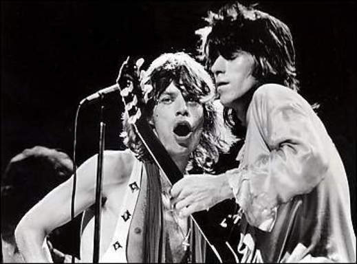 Mick Jagger e Keith Richards negli anni 70
