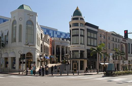 Rodeo Drive %26 Via Rodeo%2c Beverly Hills - A Los Angeles, tra shopping a Rodeo Drive, star del cinema e cultura
