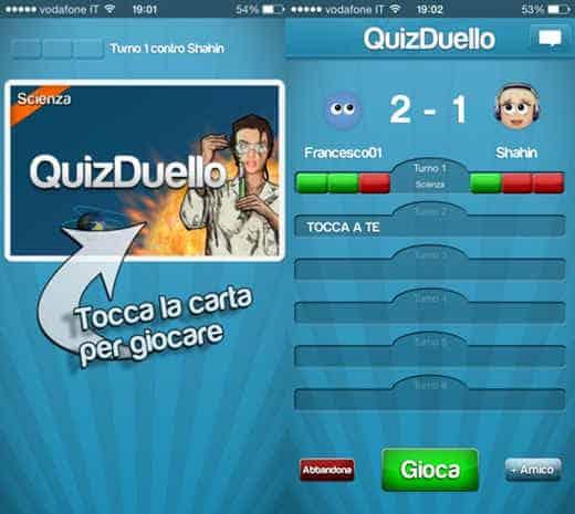 L'app QuizDuello per iOS e Android
