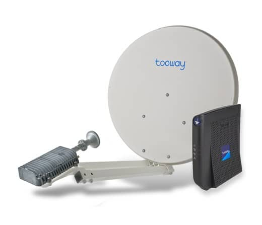 Tooway adsl via satellite