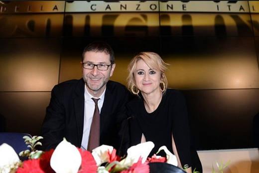 Fazio e Littizzetto Festival di Sanremo 2014