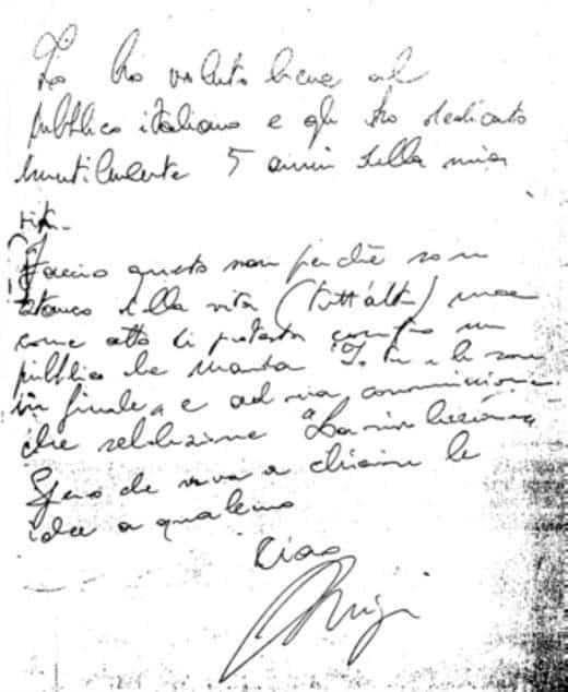La lettera di addio di Luigi Tenco