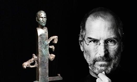 La statua dedicata a Steve Jobs
