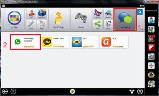 WhatsApp su BlueStacks