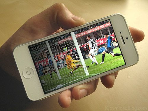 Calcio e streaming su dispositivi mobili