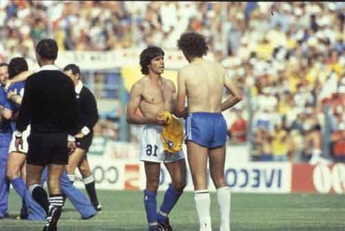Falcao e Bruno Conti ai Mondiali del 1982