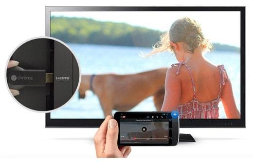 Chromecast e la TV via HDMI