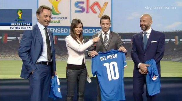 Del Piero commentatore a Sky per i Mondiali 2014