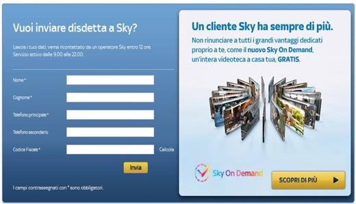 disdettaSKY - Come disdire un abbonamento Sky - iter, moduli e costi