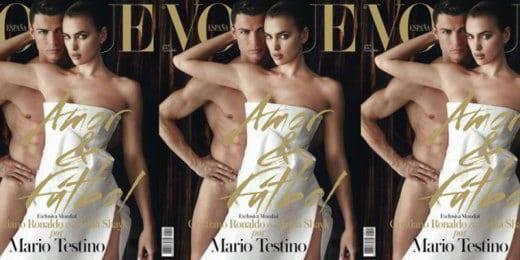 Ronaldo e Irina hot per Vogue