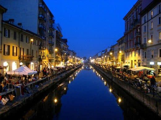 Navigli Milano di notte