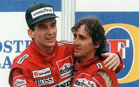 I rivali Senna e Prost