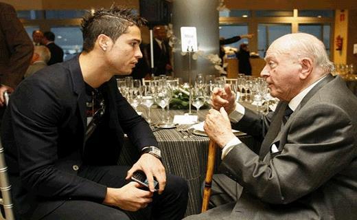Alfredo Di Stefano e Cristiano Ronaldo